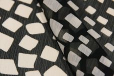 Random Geometric Crinkle Chiffon