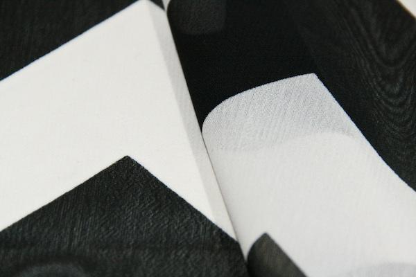 Large Chevron Chiffon - Black & White