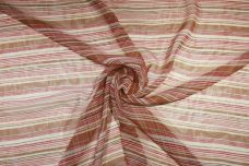 Various Stripe Chiffon - Pink & Brown
