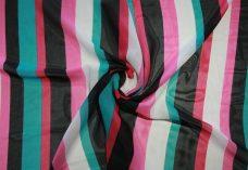 Various Stripe Chiffon - Aquamarine & Pink