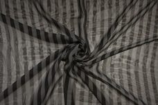 "1/2"" Stripe Chiffon - Charcoal & Pewter"