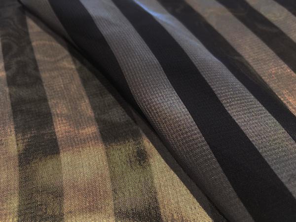"1/2"" Stripe Chiffon - Charcoal & Pewter"