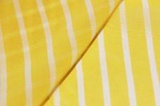 Pinstripe Chiffon - Lemon & White