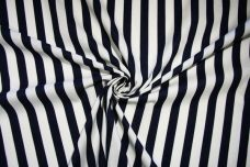 Large Navy & White Stripe Cotton