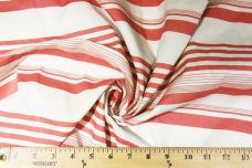 Lightweight Poly/Cotton Stripe - Dusty Watermelon