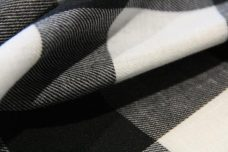 "1.5"" Buffalo Plaid Poly/Cotton - Black & White"