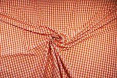 "1/4"" Gingham Poly/Cotton - Tangerine"