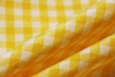 """1/4"""" Gingham Poly/Cotton - Yellow"""