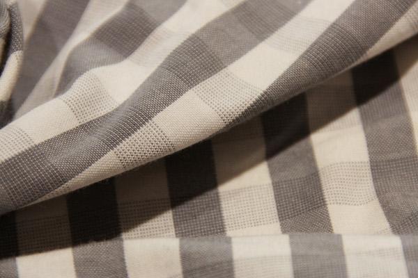 "3/8"" Gingham Cotton - Medium Grey"