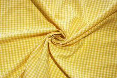 """1/8"""" Gingham Poly/Cotton - Yellow"""