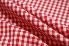 """1/8"""" Gingham Poly/Cotton - Scarlet"""