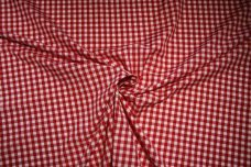 """1/4"""" Gingham Poly/Cotton - Scarlet"""