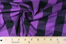 "1.5"" Buffalo Plaid Poplin - Black & Purple"