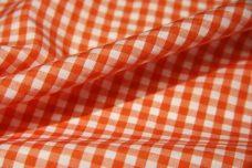 "1/8"" Gingham Poly/Cotton - Tangerine"