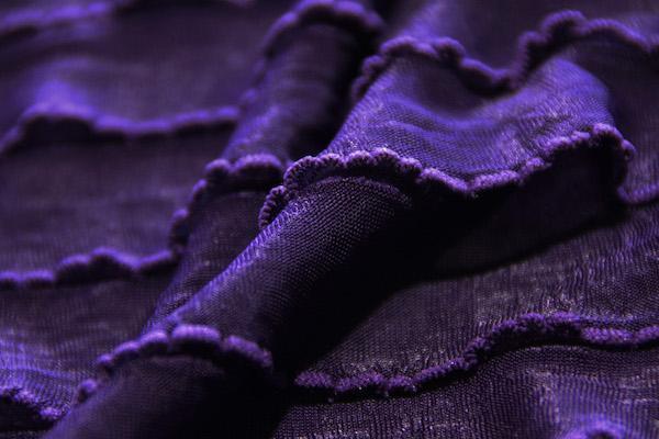 Ruffle Knit - Royal Purple