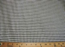 Lightweight Black & White Metallic Houndstooth Suiting