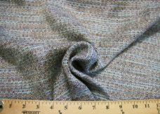 Blue & Brown Cotton/Rayon Tweed